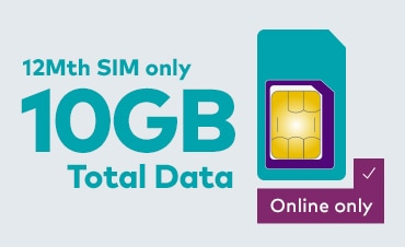 10GB Total Data - 12Mth SIM only