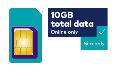 10GB total data - Online only