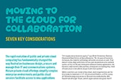 Moving to the cloud for collaboration