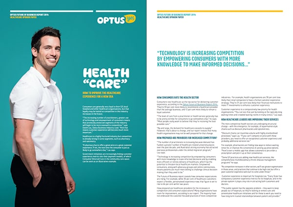 Optus Future of Business Report 2014 | Healthcare Opinion Paper