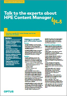 NAVIGATE HPE CONTENT MANAGER