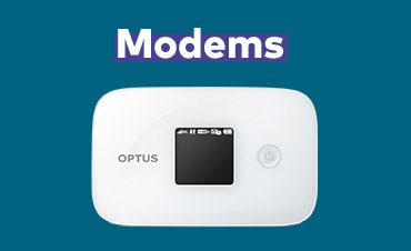 Log on while on the go with an Optus business modem
