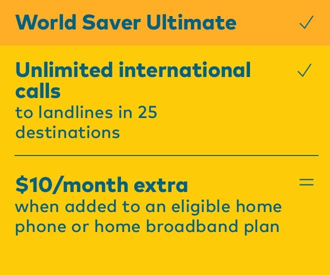 International Call Rates – World Saver - Optus