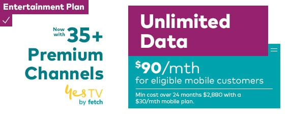 35 plus premium channels on the Entertainment Plan