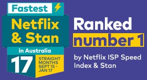 Fastest Netflix and Stan for 12 months straight Sept to Aug