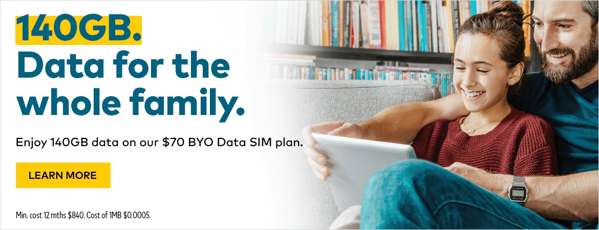 140GB. Data for the whole family