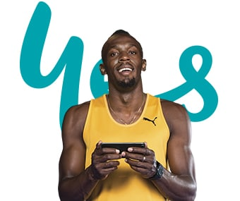 Live at the speed of Bolt with Optus 4G Plus.