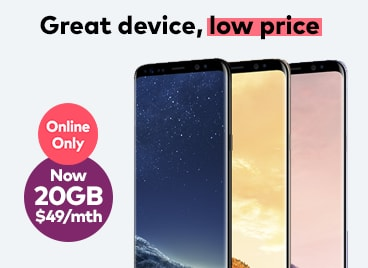 Samsung Galaxy S8 for $49/mth
