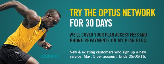 Try Optus network for 30 days