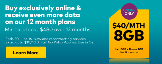 Get 1.5GB On $50 SIM only 12month Plan.