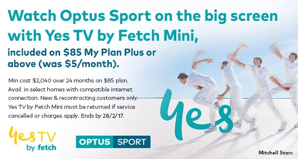 Watch Optus Sport on the big screen with Yes TV by Fetch