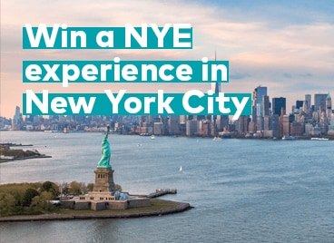 Win a NYE experience in New York City