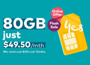 Image with Online offer of 80GB for $49. 50