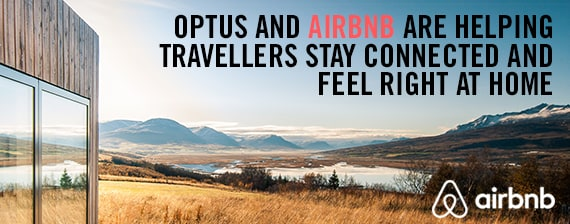 Optus and Airbnb