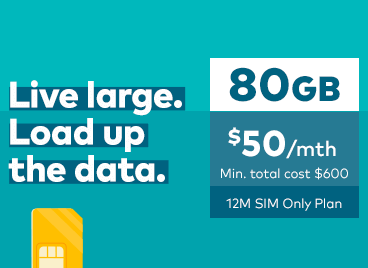 Live large. Load up the data.
