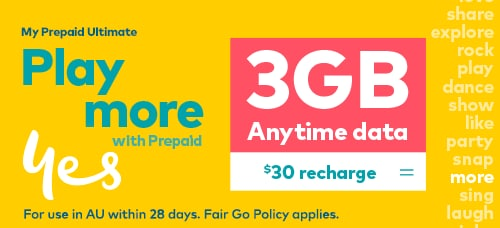3GB Anytime Data for $30 Recharge on My Prepaid Ultimate