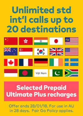 Say G'Day with My Prepaid Ultimate