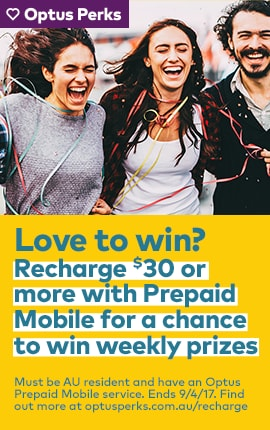 Recharge $30+ with Prepaid Mobile for a chance to win weekly prizes