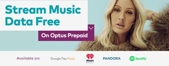 Stream Music Data Free on Optus Prepaid