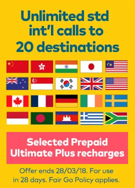 Say G'Day with Prepaid Ultimate Plus