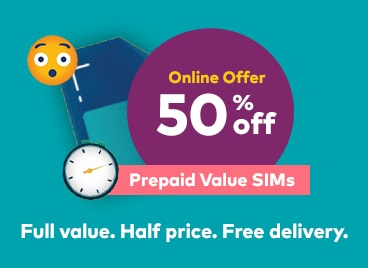 Best Prepaid SIM 50 Percent Discount