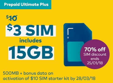Enjoy a whopping 15GB for $10 with a 7 day expiry. Offer ends 28/3/18. All for use within Australia.