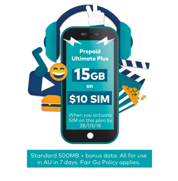 Bonus data on first recharge of $30 or more for new customers by 4 February 2018