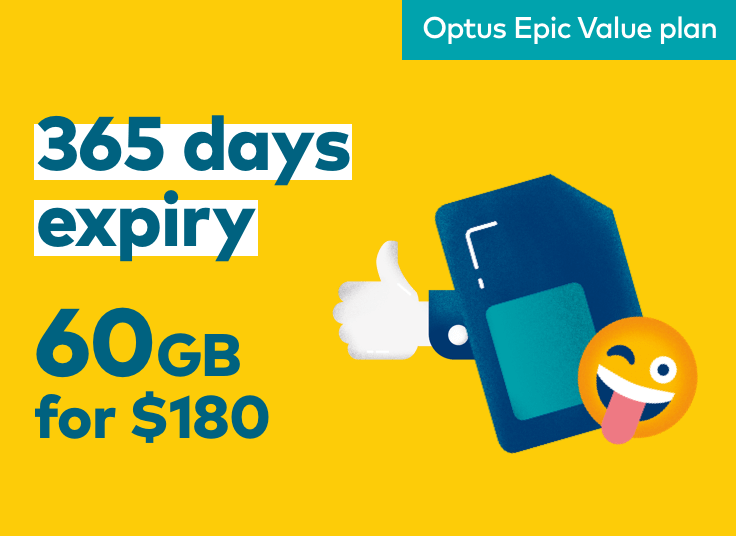 365 day expiry. 60GB for $180
