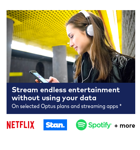 Stream endless entertainment on your iPad or tablet from Optus