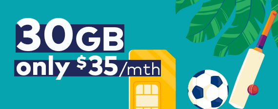 Optus deals of 30GB for only $35/mth with sim only plans