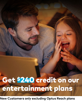 Get $240 credit on our entertainment plans