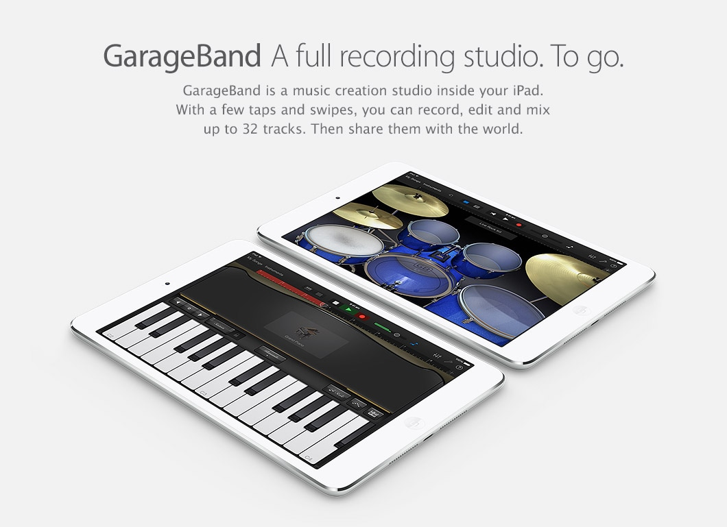 GarageBand - A full recording studio. To go.