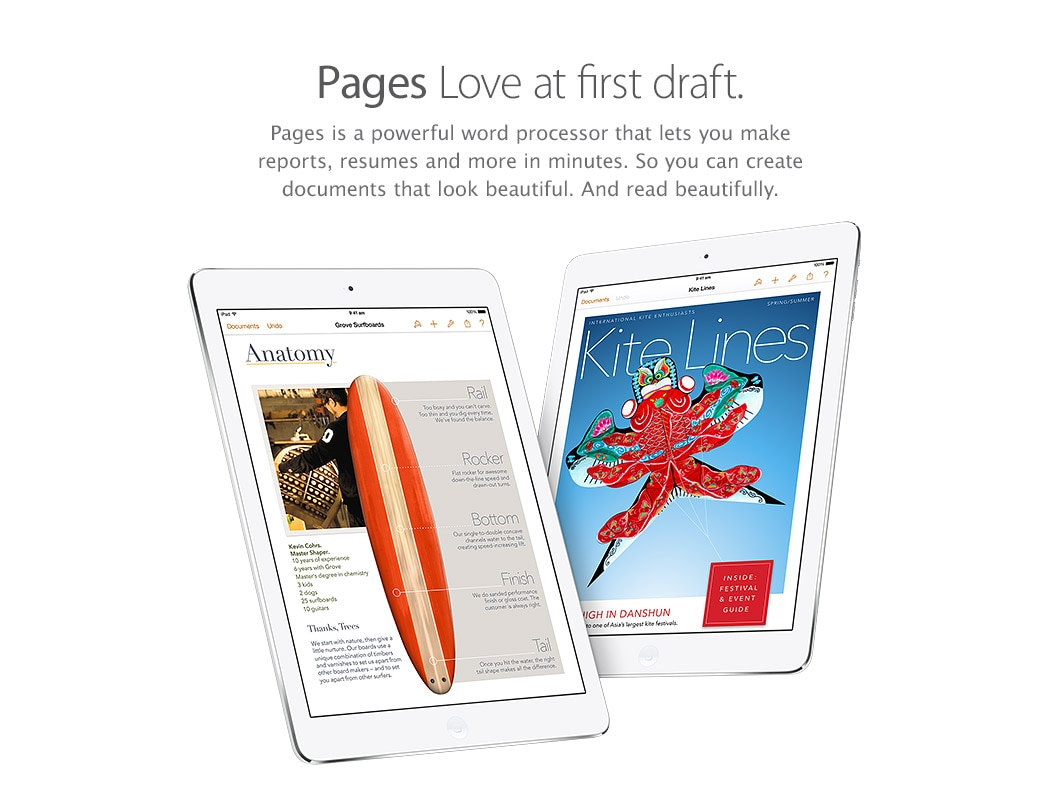 Pages - Love at first draft