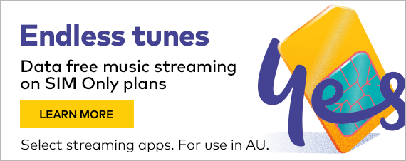 Endless tunes. Data free music streaming on SIM Only plans