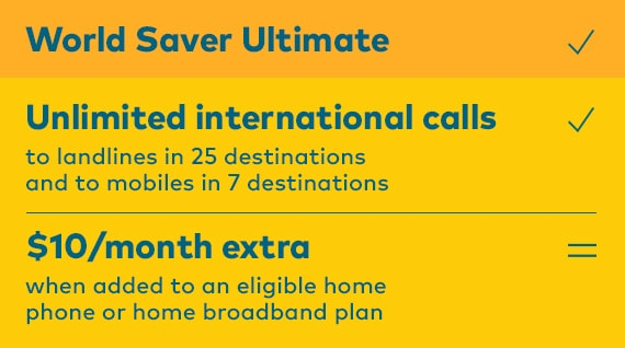 International call rate | World Saver Ultimate
