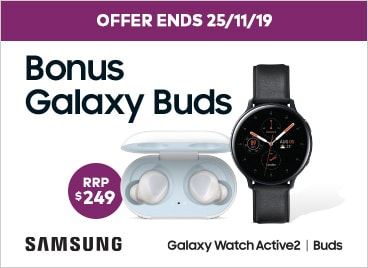Samsung watch active2 with ear buds