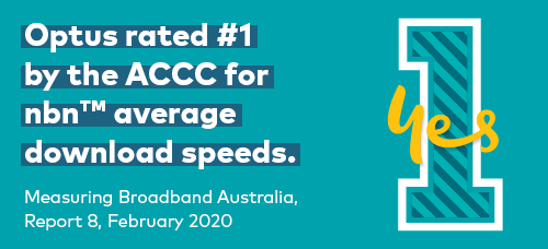 Optus rated number one by the ACCC for nbn average download speeds