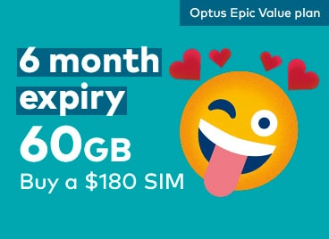 Best Optus Prepaid Epic Value Plan Long Expiry 60GB