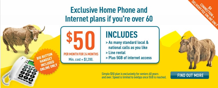 Home Phone Internet for Seniors